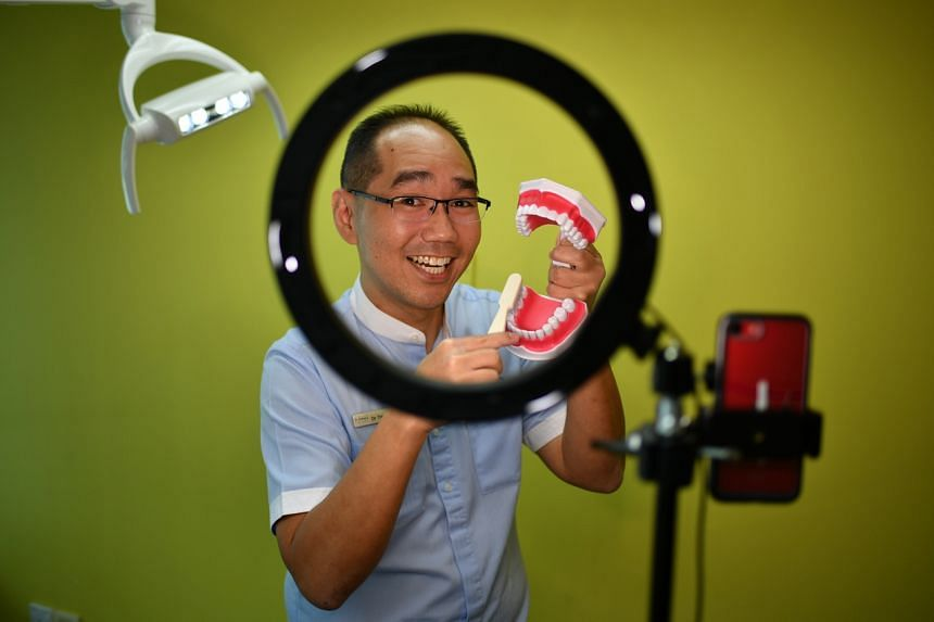 Dr Tristan Peh said he got interested in using TikTok after seeing dentists from other countries on it.