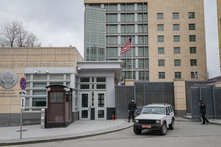 The US embassy in Moscow said it would from May 12 stop offering routine services to US citizens.