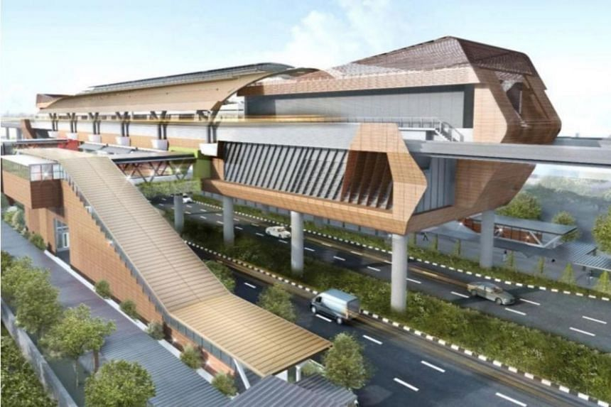 An artist's impression of the future Enterprise station along Jalan Boon Lay.