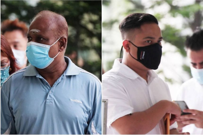 Former HDB executive Kalayarasan Karuppaya (left) allegedly shared the information about impending inspections with Damandeep Singh on three occasions.