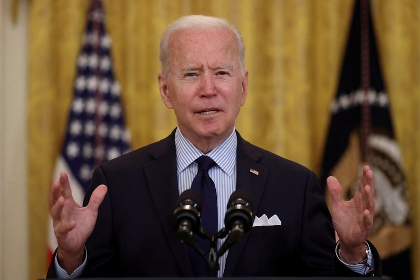 President Joe Biden pledged to work with both parties to advance his policy goals.