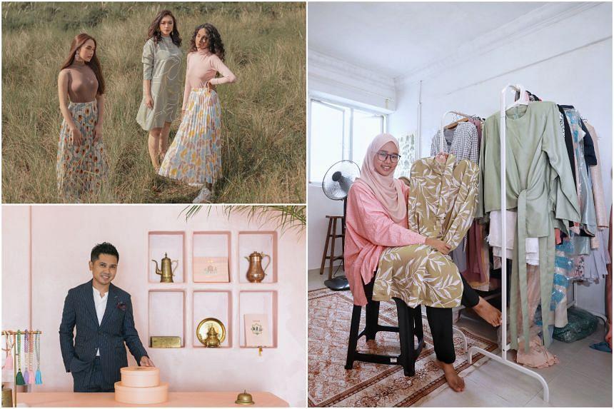 (Clockwise from top left) Designs from Katt & Co, designer Hafizah Ghazali and Lasouk founder Heikal Gani.