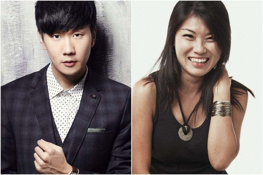 Singaporean singer JJ Lin and lyricist Xiaohan.
