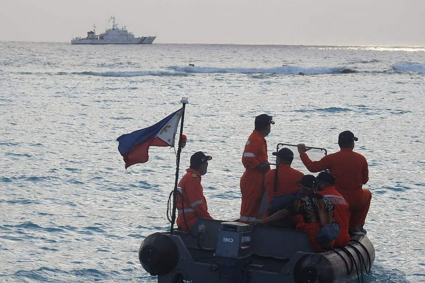 The Philippine President rebuffed a call from China to withdraw vessels from disputed areas of the South China Sea.