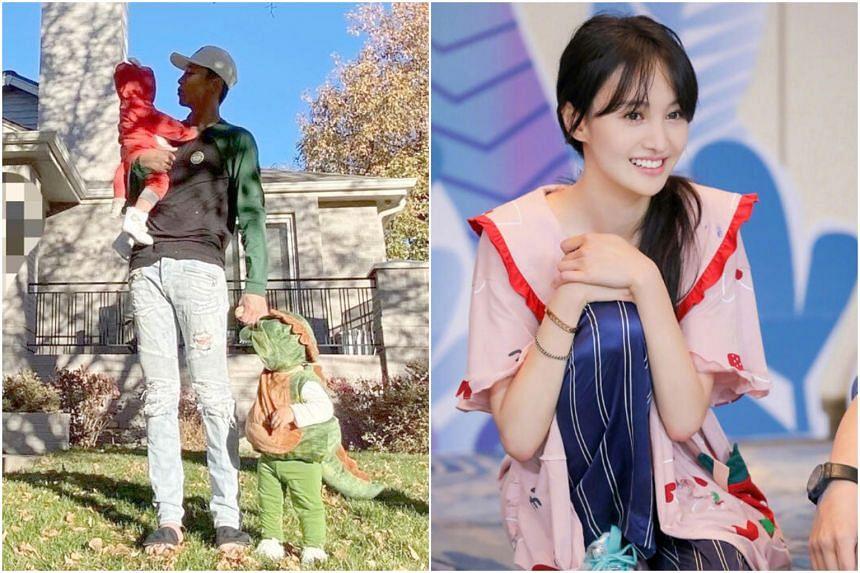 Zhang Heng, the ex-boyfriend of actress Zheng Shuang (right), announced that he has won custody of their two children.