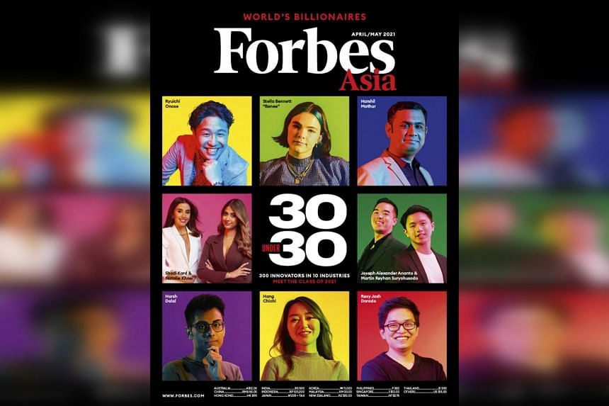 Mr Harsh Dalal (bottom left) was featured on the cover of the April/May issue of Forbes Asia.