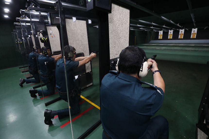 The police conduct regular audits of auxiliary police forces to ensure compliance when issuing firearms.