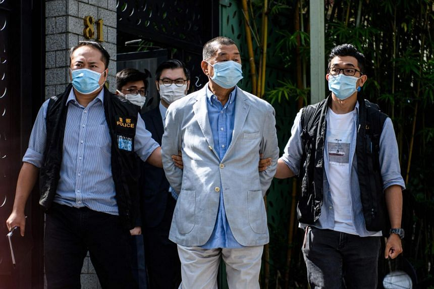 Jimmy Lai had been sentenced to 14 months in prison for taking part in unauthorised assemblies during pro-democracy protests in Hong Kong in 2019.