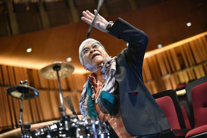 Cultural Medallion recipient and jazz icon Louis Soliano at Victoria Theatre on April 15, 2021.