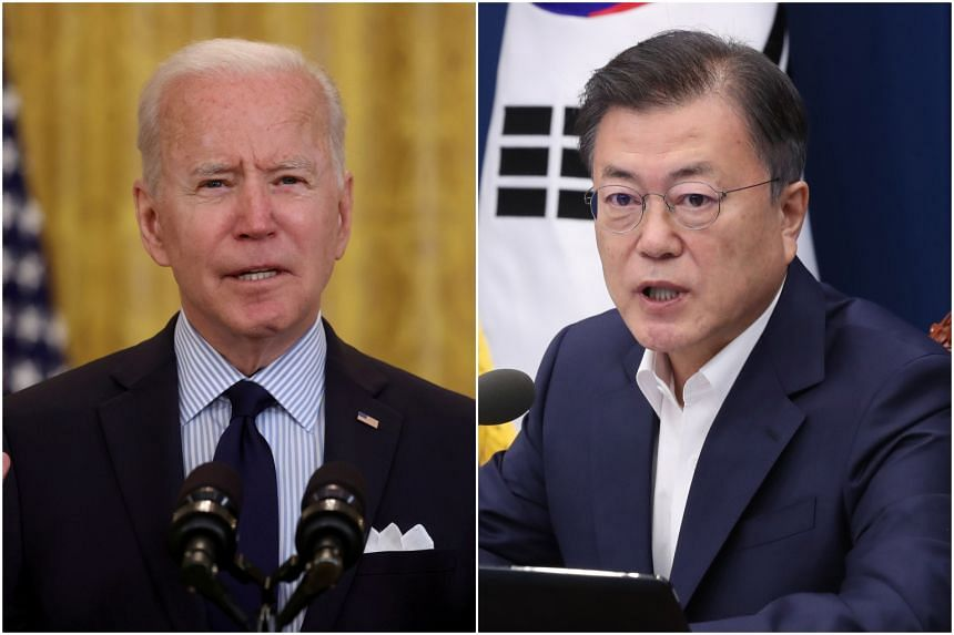 South Korean President Moon Jae-in will arrive in Washington this week for his first summit with his US counterpart, Joe Biden.