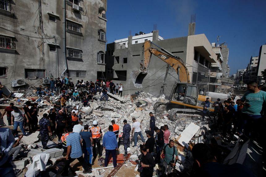 Pre-dawn Israeli strikes in the centre of Gaza City brought the death toll in Gaza to 181.