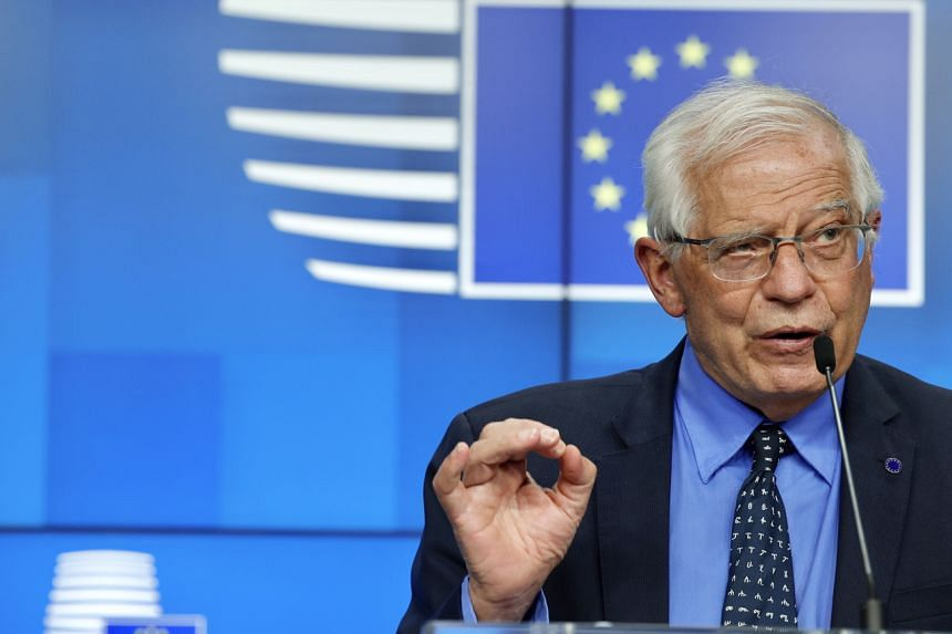 """The EU says Josep Borrell has been conducting """"intense"""" diplomatic efforts to try to help de-escalate the violence."""