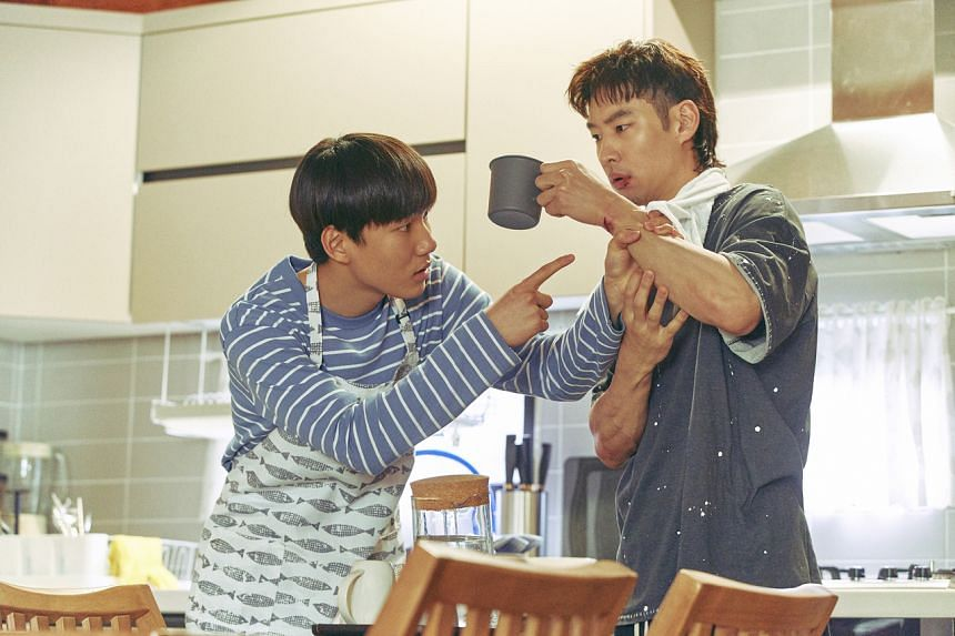 Tang Jun-sang (left) and Lee Je-hoon are estranged relatives who grow closer over their course of work as trauma cleaners.
