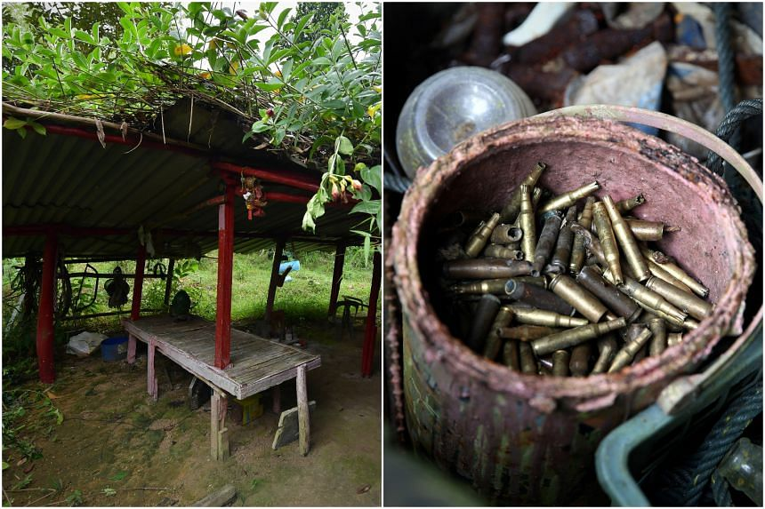 About 100 expended blank ammunition cartridges were found at the hut, along with animal snares and tools for gardening.