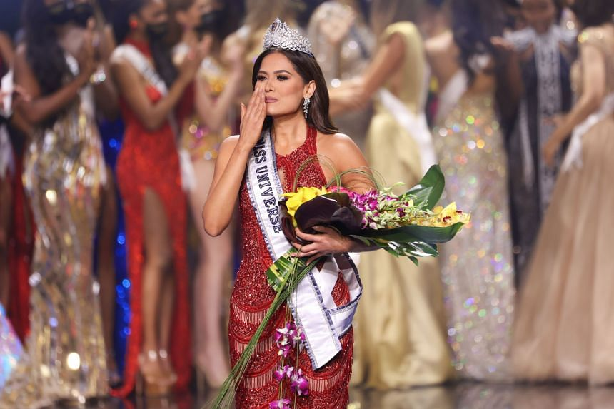 Miss Mexico Andrea Meza finished first ahead of the Brazilian and Peruvian finalists in a flashy televised event.