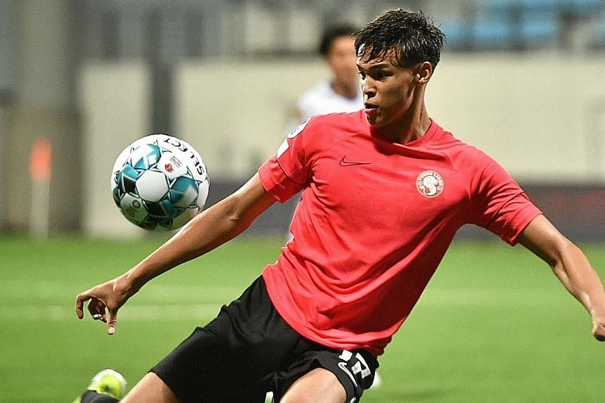 Young Lions' Ilhan Fandi, 18, is seen as a forward by national coach Tatsuma Yoshida even though his father Fandi Ahmad thinks he is more of an attacking midfielder. ST PHOTO: ARIFFIN JAMAR