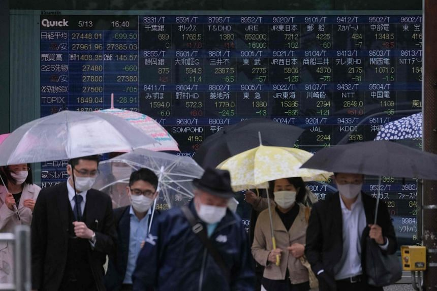 Japan's economy shrank an annualised 5.1 per cent in the first quarter.