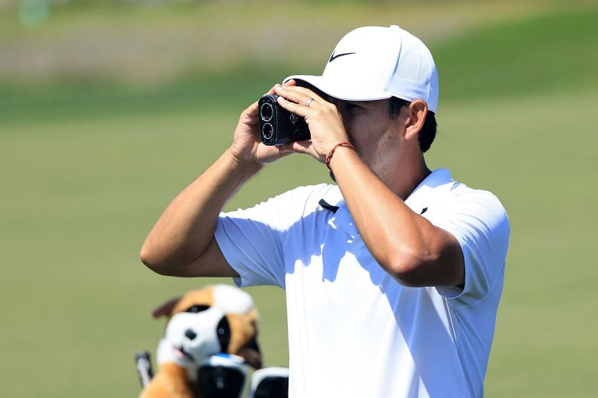 Rangefinders, about the size of a small pair of binoculars, can measure the distance of a shot to a flag.