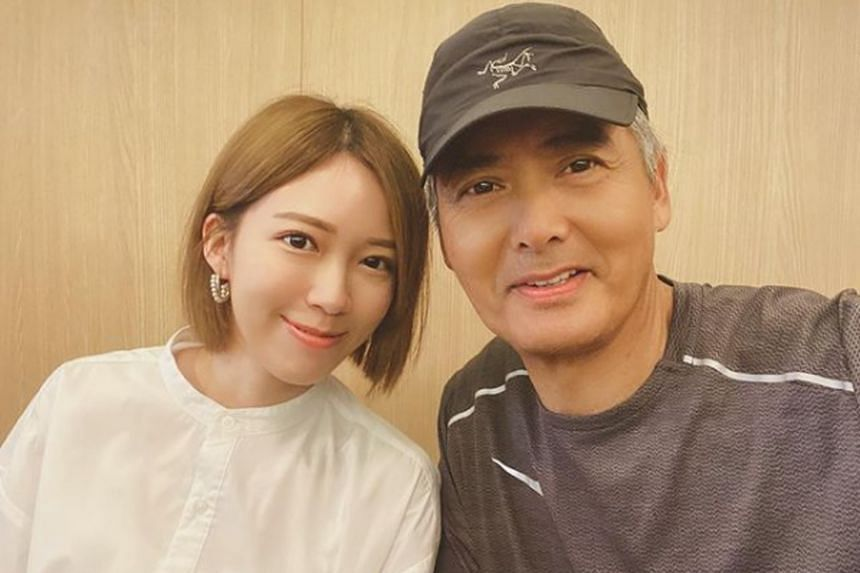 One of the first to wish Chow Yun Fat (right) happy birthday was actress Adrian Wong.
