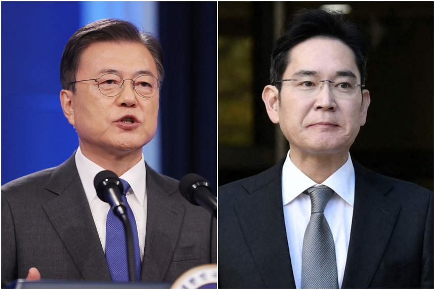 South Korean President Moon Jae-in is under some pressure to pardon jailed Samsung Electronics vice-chairman Lee Jae-yong.