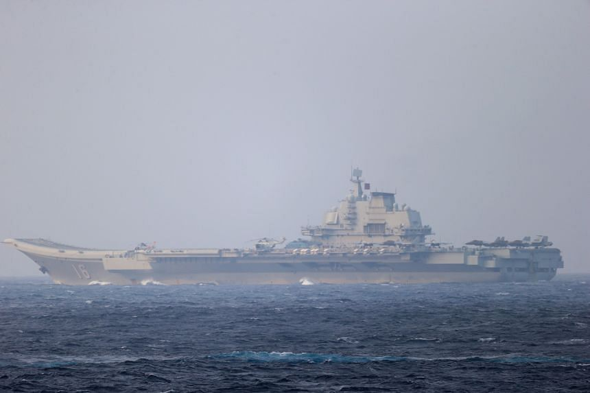 Last month, Chinese aircraft carrier Liaoning and five escort vessels passed through the Miyako Strait.