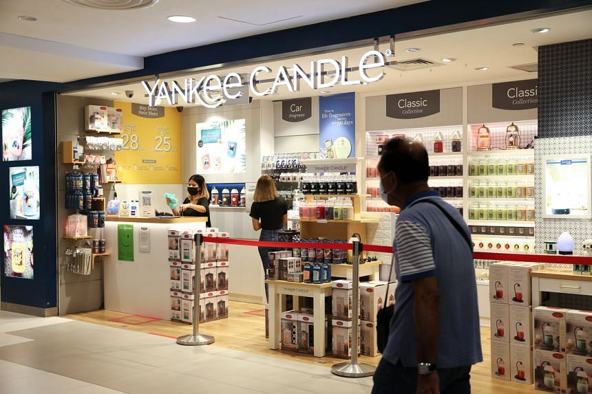 The Yankee Candle outlet at Bugis Junction on May 19, 2021.