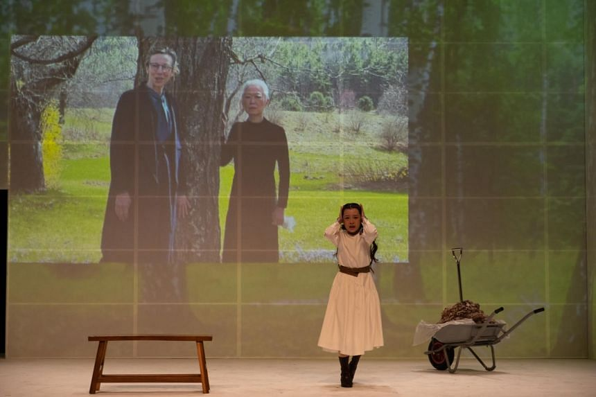 Nine Years Theatre's ensemble fill the Drama Centre's stage with physicality, while the more mature actors of Siti loom over them in cinematic projections.