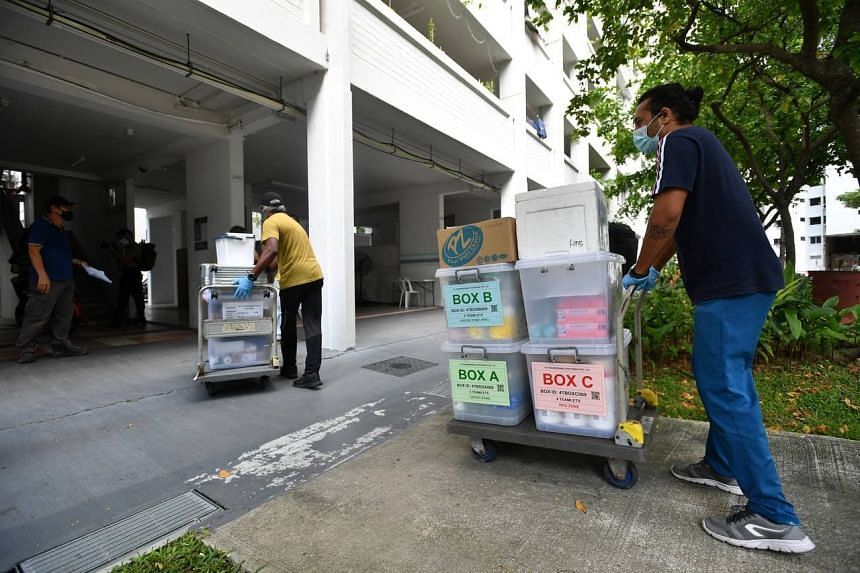 This is the first time an entire block of residents, comprising 114 households, will be undergoing mandatory Covid-19 testing as a precautionary measure.