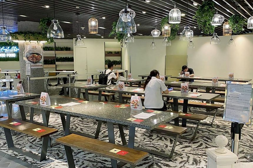 The mall has designated the Food Republic (pictured) and Big Appetite food courts as zones that allow essential workers to have meals in a safe and conducive environment.