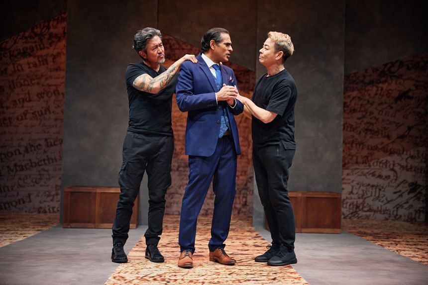 (From left) Adrian Pang, Gaurav Kripalani and Ivan Heng play characters based on themselves in The Commission.
