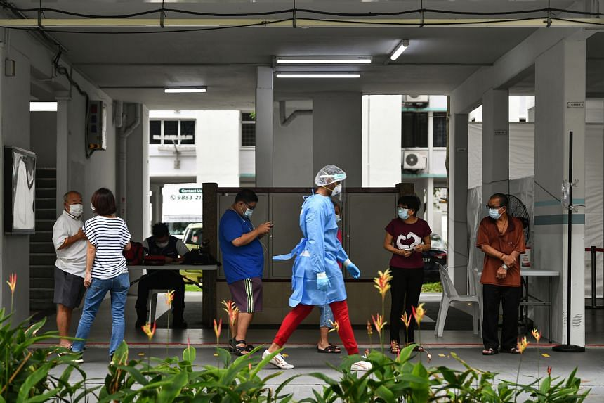 All residents of Block 506 Hougang Avenue 8 were tested for Covid-19.