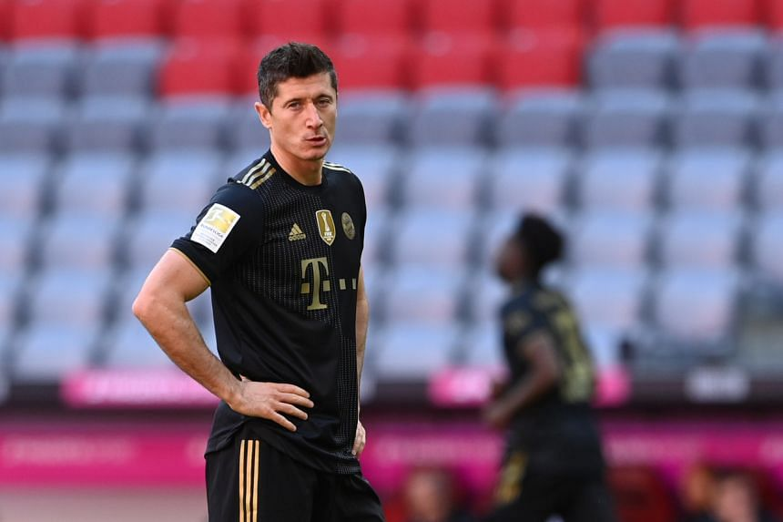 Lewandowski broke the record when he scored in the last minute of their last match of the season, a 5-2 win over Augsburg.