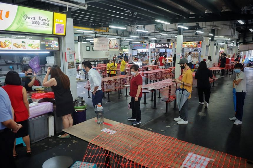 The National Environment Agency will waive half of hawker stall rentals in May and June.