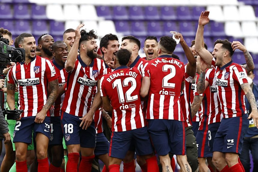 Football Atletico Madrid Crowned Spanish La Liga Champions Football News Top Stories The Straits Times