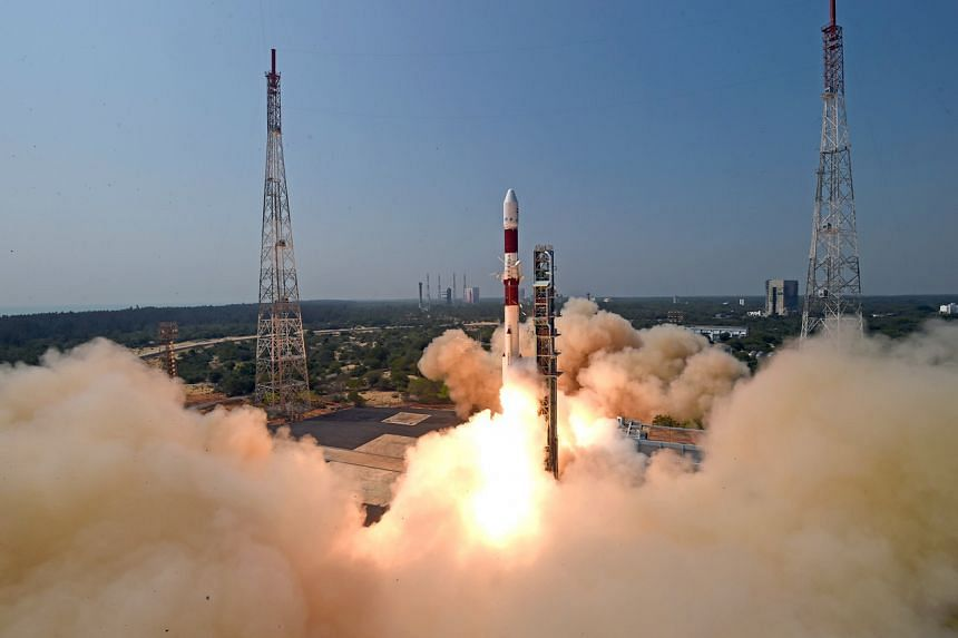Brazil's Amazonia-1 being launched from India's Satish Dhawan Space Centre in February.