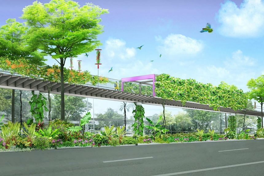An artist's impression of the upcoming Bukit Timah-Rochor Green Corridor.