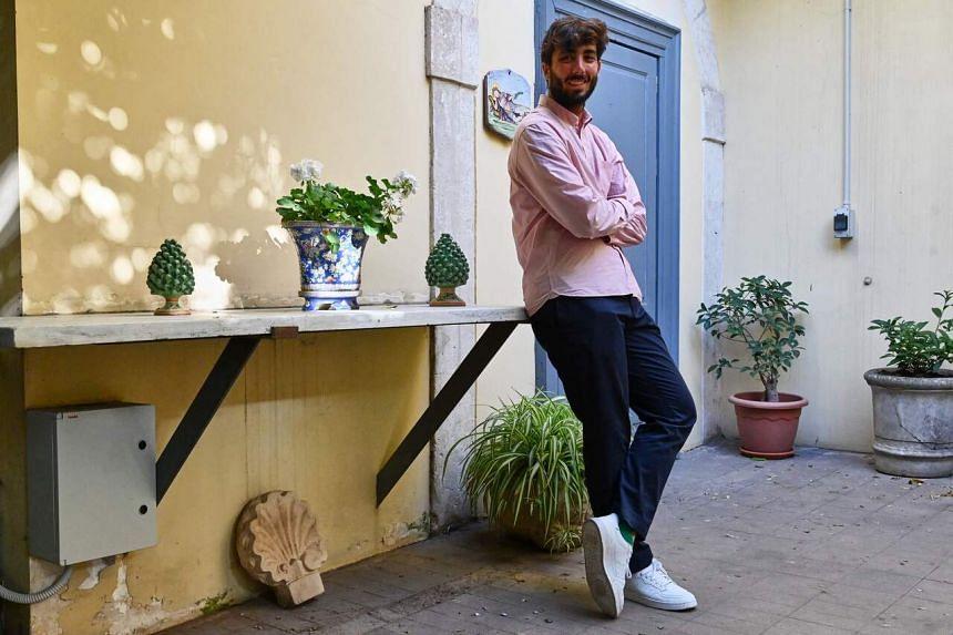 Corrado Paterno Castello, one of the two founding members of Boniviri, in Catania, on April 28, 2021.