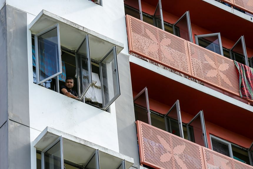 Migrant workers are still mostly not allowed to leave their places of residence in Singapore, aside from going to work.