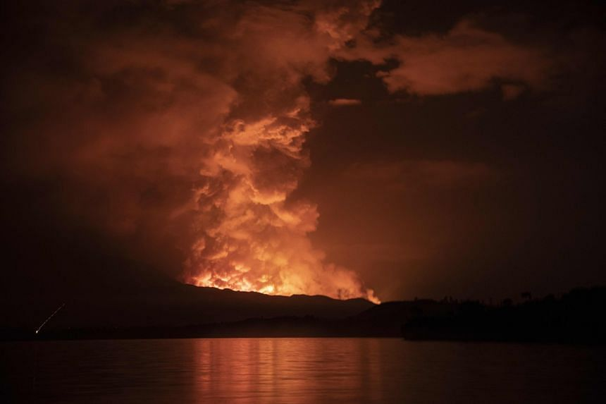 Nyiragongo, one of the world's most active volcanoes, erupted in the early evening on May 22, 2021.