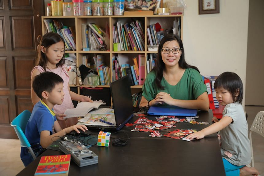 EllieFun Box co-founder Abigail Chee and her three children - (from left) 10-year-old Kyra, eight-year-old Zach and three-year-old Ariel.