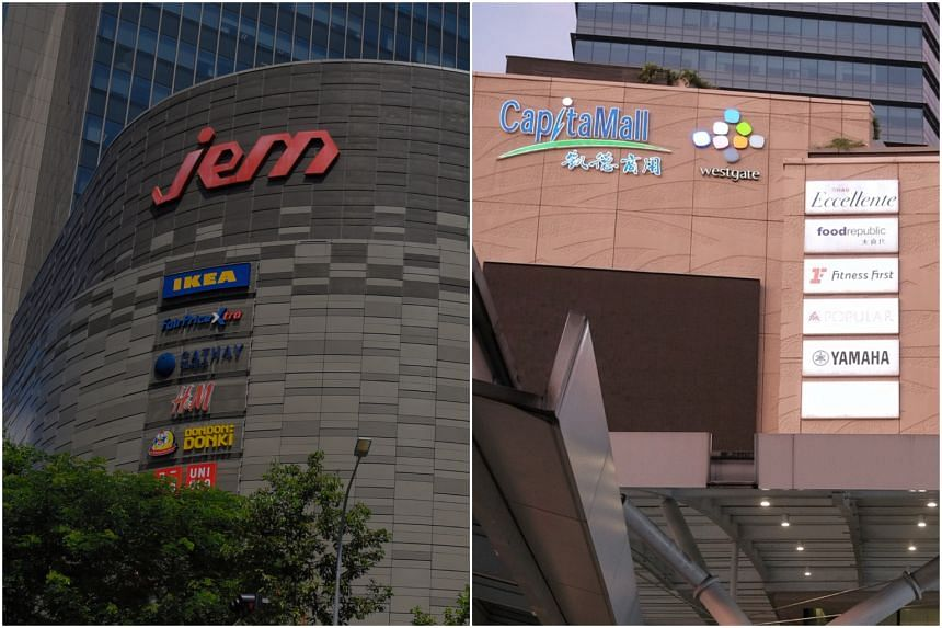 Jem and Westgate malls in Jurong East are closed for two weeks, during which they will be cleaned.