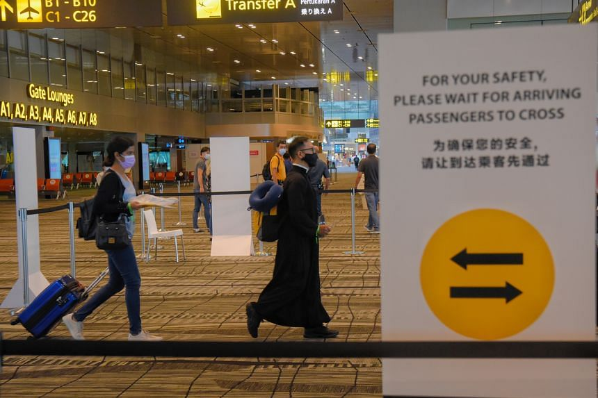 The departure and arrival gates, arrival immigration hall and baggage claim hall are considered the highest-risk areas (Zone 1).
