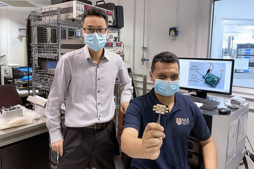 The research team was led by Professor Yang Hyunsoo, pictured here with Dr Raghav Sharma, the first author of the paper.
