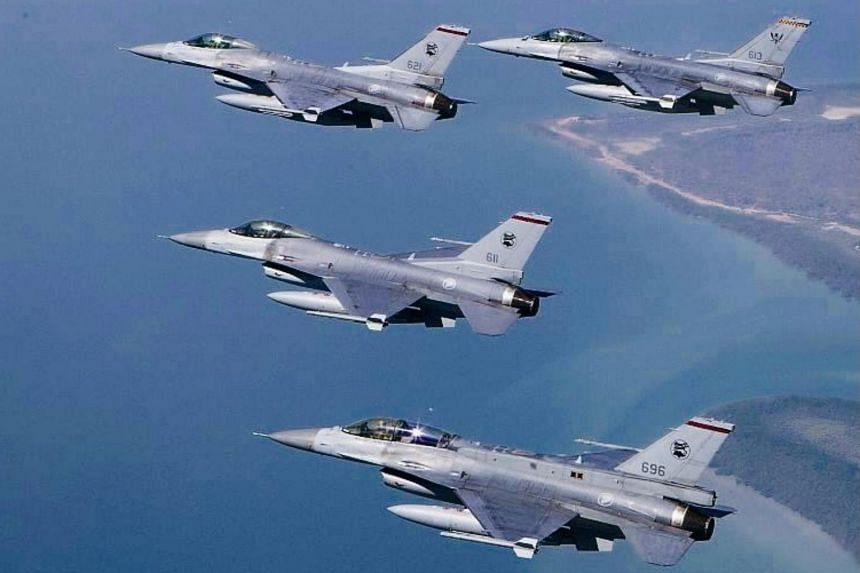 The RSAF said a team of airmen and women would be deployed to Andersen Air Force Base on Guam for two months.