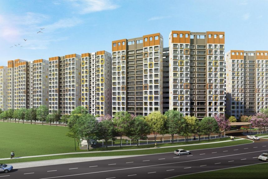 Tengah, Singapore's newest town, has 782 two-room flexi, four-room and five-room flats in Garden Bloom @ Tengah.