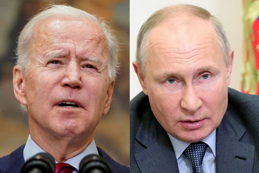 The meeting in the Swiss city between Biden (left) and Putin will be on June 16, 2021.
