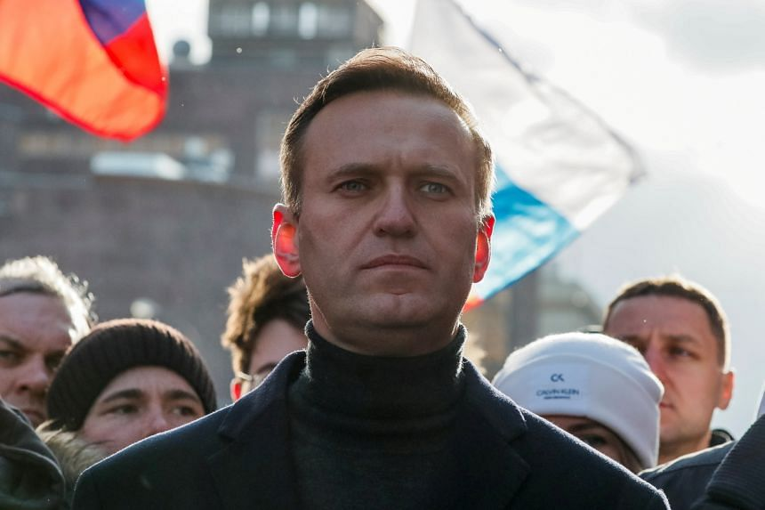 Mr Alexei Navalny was arrested in January upon returning from Germany after recovering from a nerve agent poisoning attack.