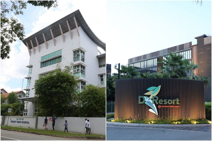 Bright Vision Hospital and D'Resort NTUC are among three such facilities that can accommodate up to 2,400 people.