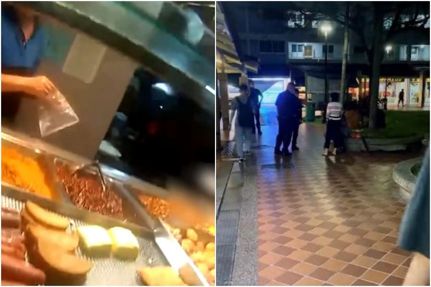 Body-worn camera footage released by the police shows a police officer buying the woman a packet of food from a nearby stall and not taunting or reprimanding her.