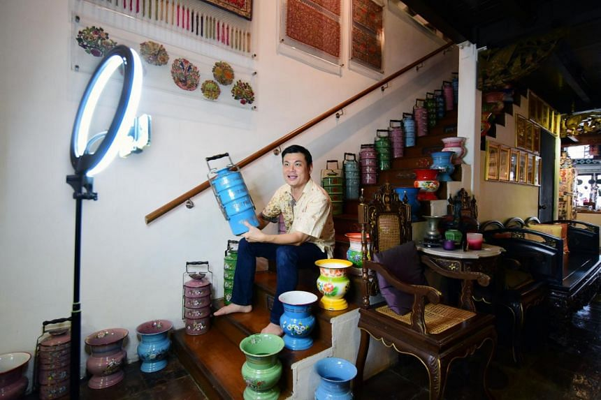 Mr Alvin Yapp, owner of Peranakan private home museum The Intan, has had to find other ways to make money.